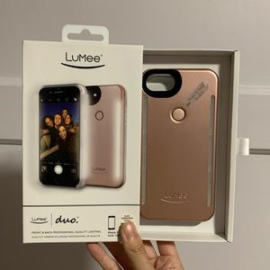 Lumee iPhone 7, 6, 6s phone case with frame light